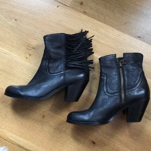 Sam Edelman Western Leather Ankle Boots
